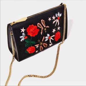 Zara, embellished, Designer like, leather bag